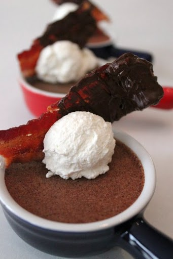 ... in here at the Mele Cotte kitchen. Maple Bacon Chocolate Pot de Creme