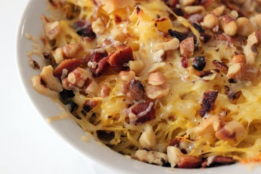 Post image for Spaghetti Squash Gratin with Walnuts and Bacon