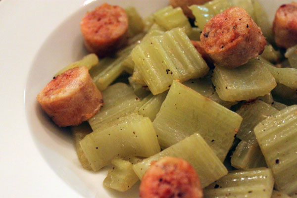 Post image for Chicken Sausage and Cardoon Sauté