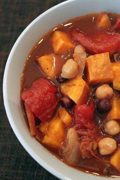 Post image for Three Bean & Sweet Potato Chili