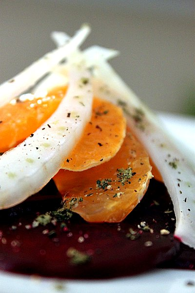 Post image for Mandarin Orange, Roasted Beet & Fennel Salad