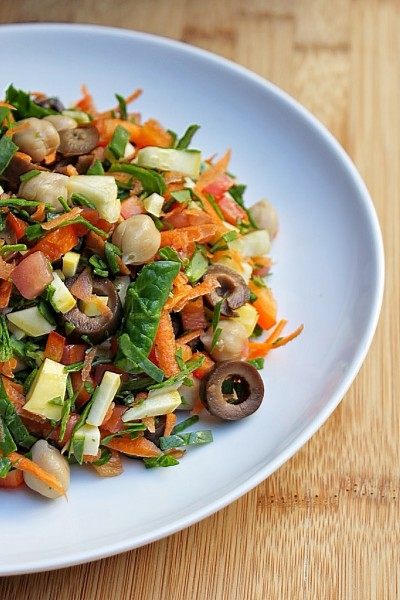Post image for Chopped Vegetable and Chickpea Salad