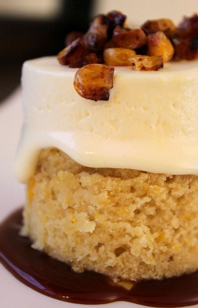 Post image for Sweet Corn Semifreddo with a Sweet Corn Cake